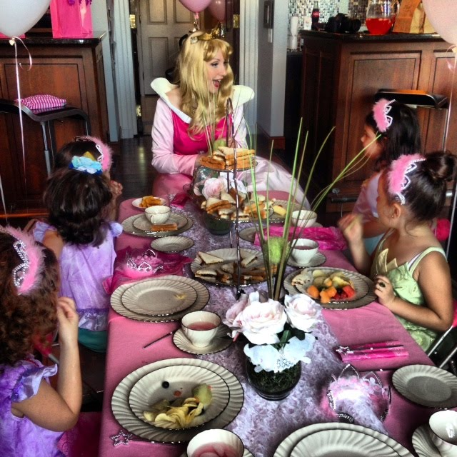 It's High Tea! The guest of honor and her guests will have a tea party